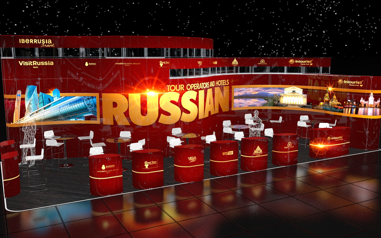 Stand of Russia for the exhibition in Madrid